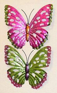 Schmetterling 2er set aus metall wanddeko wandschmuck for Wandschmuck aus metall