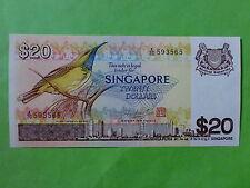 Singapore $20 Bird 1979 (UNC) (Mr Hon Sui Sen & Seal), A/76 593565