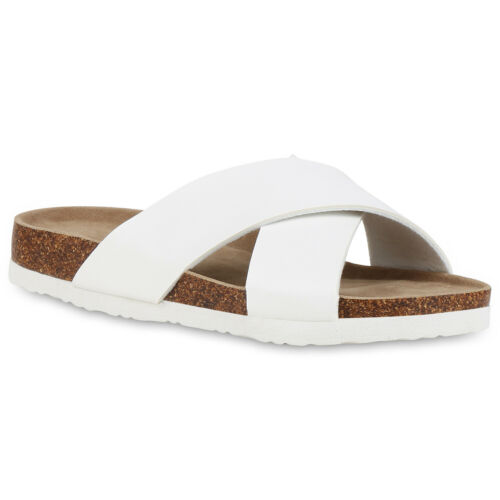 Damen Sandalen Pantoletten Bequem Hausschuhe Sommer Schlappen 830604 Trendy Neu