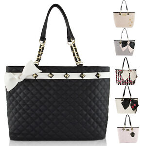 Image Is Loading Betsey Johnson East West Satchel Tote Bag With