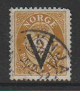 Norway-1941-2-ore-stamp-Optd-With-Wmk-G-U-SG-302A