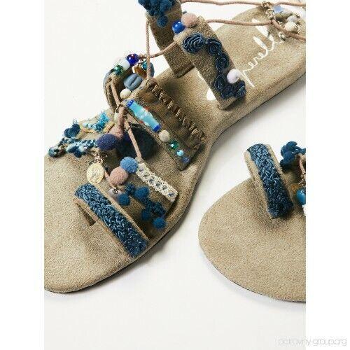 Free Free Free People Boho Fools gold Wrap Sandal ☮ Size Medium ff122b
