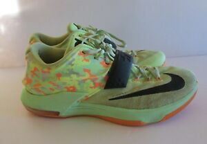 6150a361318 KD Nike Zoom Easter 7 VII Mens Size 11 US Lime Green BLK Vapor Camo ...