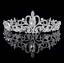 Crown-Bridal-Tiara-Rhinestone-Headpiece-Crystal-Bridal-Headband-Hair-Accessories thumbnail 1