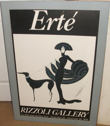 "ERTE ""RIZZOLI GALLERY"" FIFTH AVE NEW YORK 1978 LARGE ART DECO POSTER"