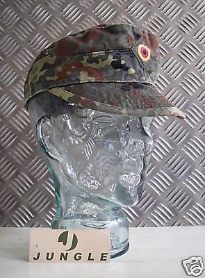 Autentico Esercito Tedesco Flectarn Mimetico Peak Berretto Da Baseball/cappello-taglia 60cms-mostra Il Titolo Originale Costruzione Robusta