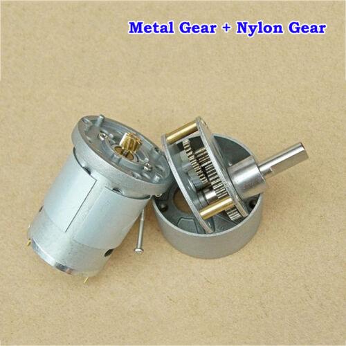 ZGB37R DC5V 6V 194RPM Reversible High Torque Metal Gearbox Gear Reduction Motor