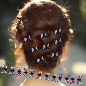 12PC-Girls-Princess-Rhinestone-Mini-Hair-Claws-Cute-Sweet-Animal-Hair-Clip