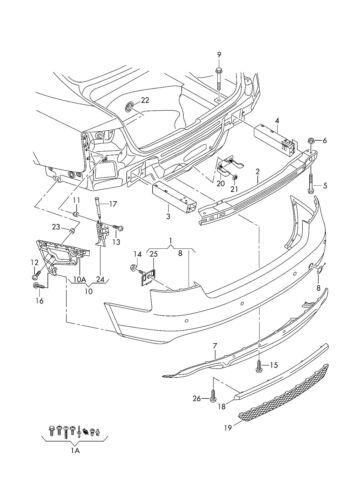AUDI A7 4G 11-14 NEW GENUINE REAR S-LINE BUMPER TOW HOOK COVER CAP 4G8807441A