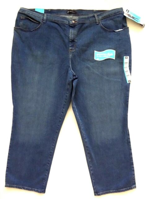 70295e02 Lee Relaxed Fit Jeans Womens Size 24w Petite Blue Straight Leg for sale  online | eBay