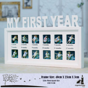 Image Is Loading My First Year Photo Picture Frame Baby Birthday