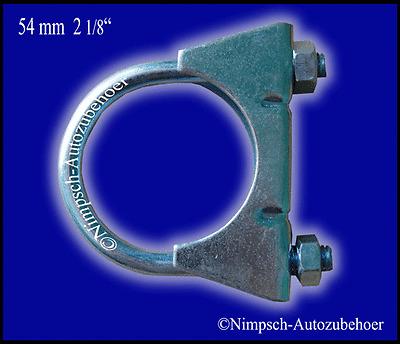 Auspuffschelle Bügelschelle Rohrschelle 48 mm M8 Neu