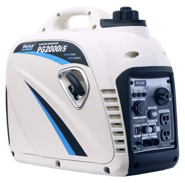 Pulsar G2319N 2000-W Super Quiet Portable Gas Powered Inverter Generator Home RV