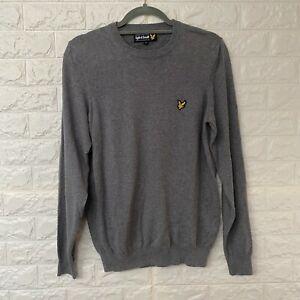 Lyle-amp-Scott-Pullover-Pullover-Herren-Groesse-Small-Grau-Logo-Baumwolle