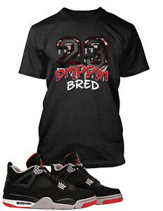 23-BRED-Dripping-Tee-Shirt-to-Match-Retro-Air-Jordan-13-Shoe-Mens-Graphic-Tee