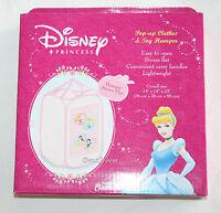 Disney Princess Pop Up Clothes & Toy Hamper 14x14 Easy Open Stores Flat