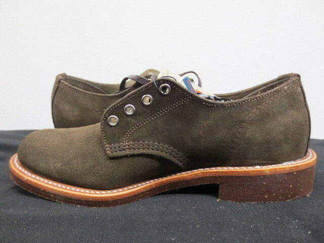 Uomo Medium Chippewa Chocolate Suede Oxford Dress Shoe Size 8 Medium Uomo Made in  A fdd687