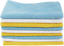 """thumbnail 5 - Amazon Basics Blue, White, and Yellow Microfiber Cleaning Cloth 12""""x16"""" - Pack o"""