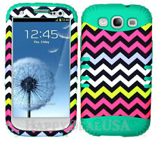 KoolKase Hybrid Silicone Cover Case for Samsung Galaxy S3 - Chevron Wave 04