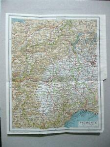 Cartina Piemonte Torino.Stampa Antica Mappa Cartografia Piemonte Torino Milano Cuneo Vercelli 1940 Ebay