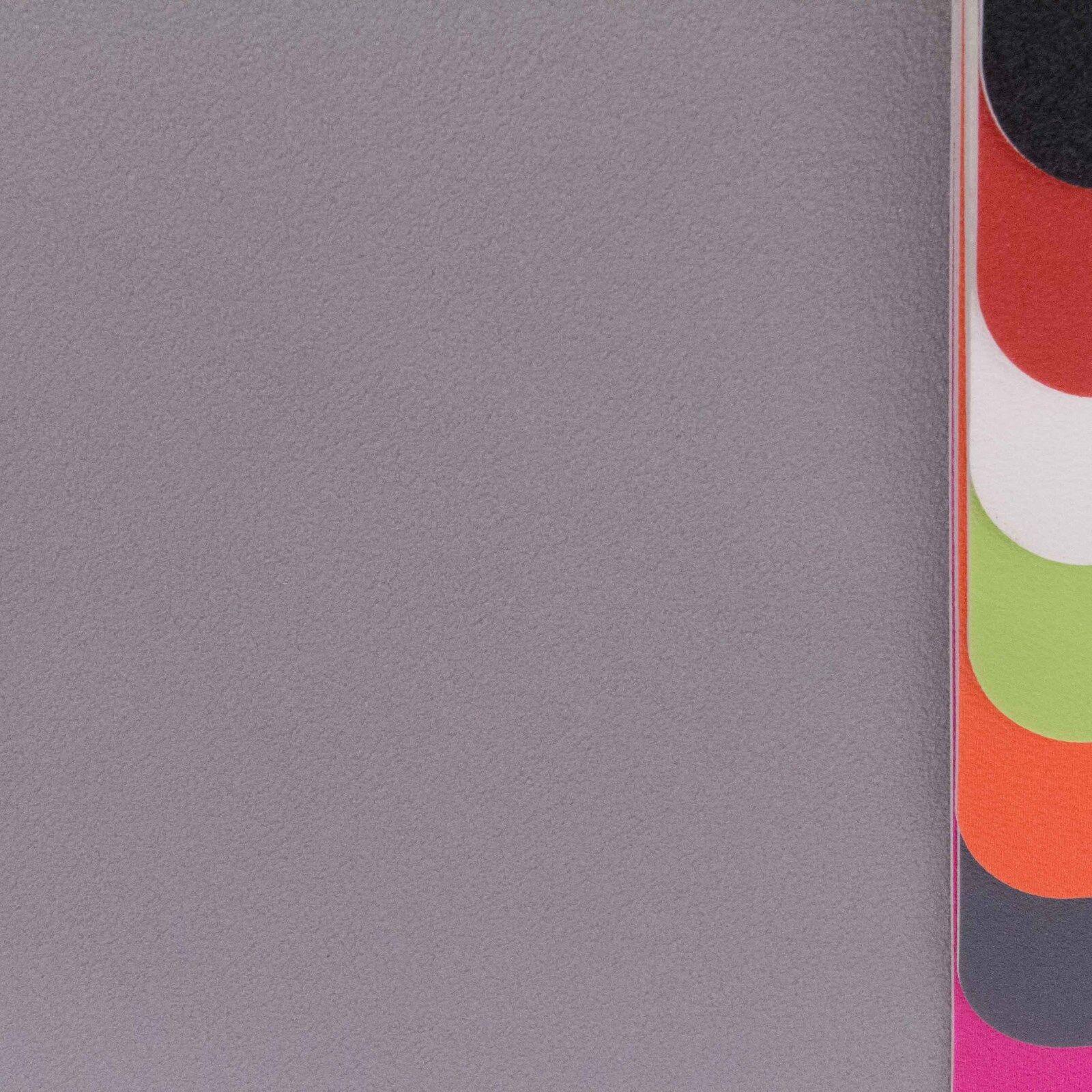 PVC Vinyl Bodenbelag Einfarbig Uni Grau Hell Breite 4 m - 1m²/