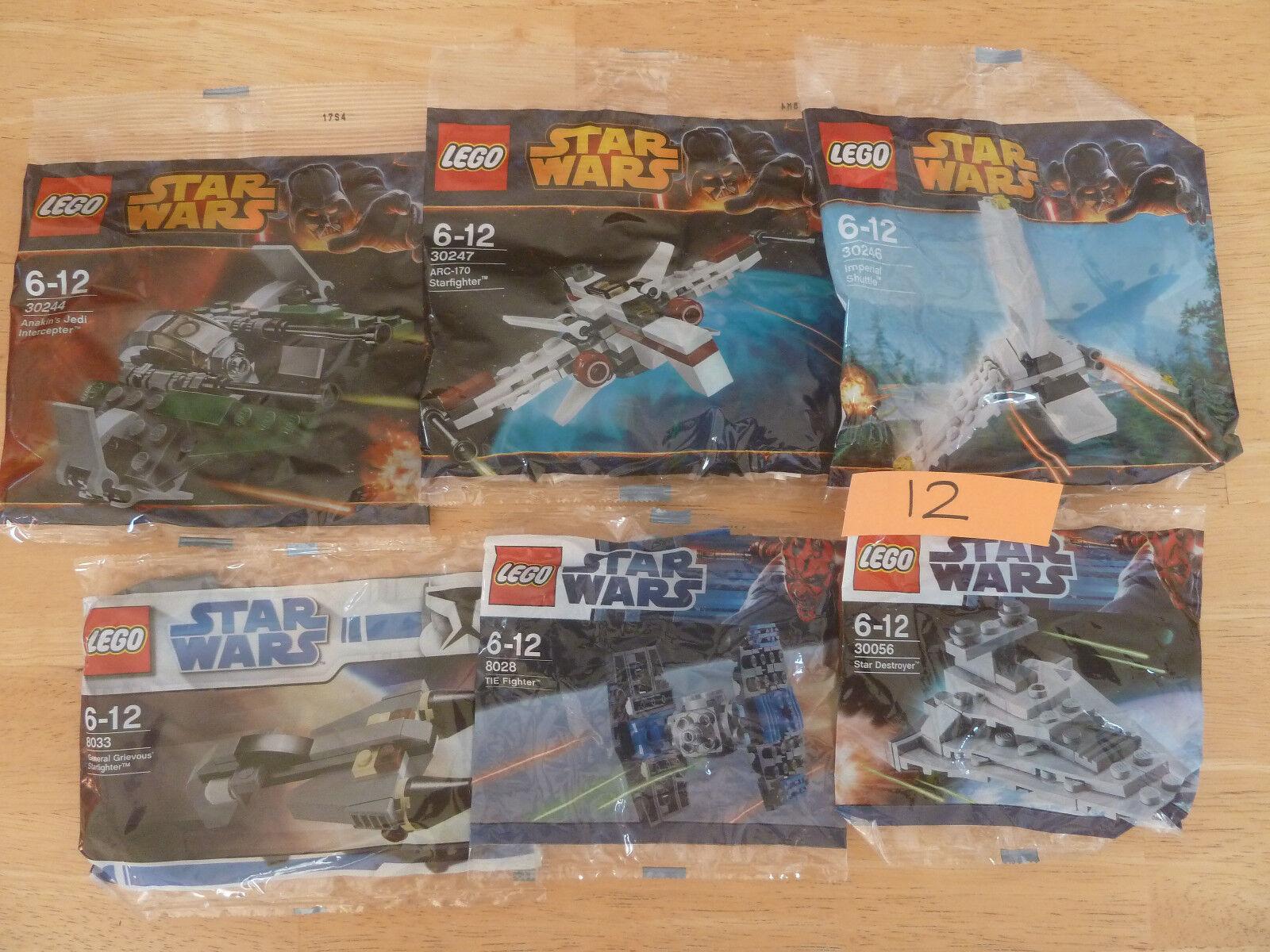 6 x Lego Sets  - Star Wars - ARC-170 Star Fighter Destroyer General Grievous  12