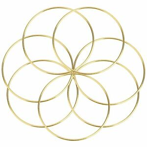 5-x-4-034-Brass-Coated-Metal-Dreamcatcher-Macrame-Craft-Hoop-Ring