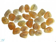 CALCITE RUNE STONES CRYSTAL SET DIVINATION ORACLE GEMSTONE WICCA PAGAN NEW AGE
