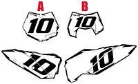 2008-2009-2010 Ktm 450exc Pre-printed White Backgrounds Black Shock Series