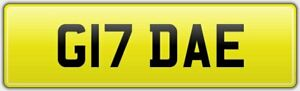 OLD-QUALITY-2-DIGIT-PRIVATE-DVLA-REG-NUMBER-PLATE-ALL-FEES-PAID-G17-DAE-DA-DE