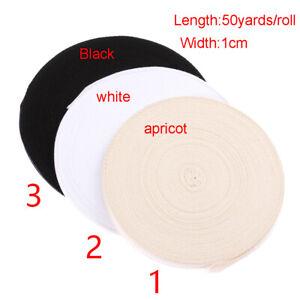 50-Yards-Roll-Cotton-Webbing-Herringbone-Bunting-Apron-Sewing-Tape-Twill-Ribbon