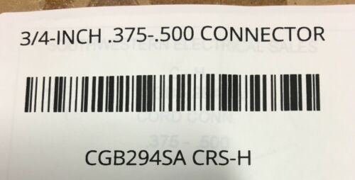 CGB294SA CROUSE HINDS 3//4-INCH .375-.500 CONNECTOR