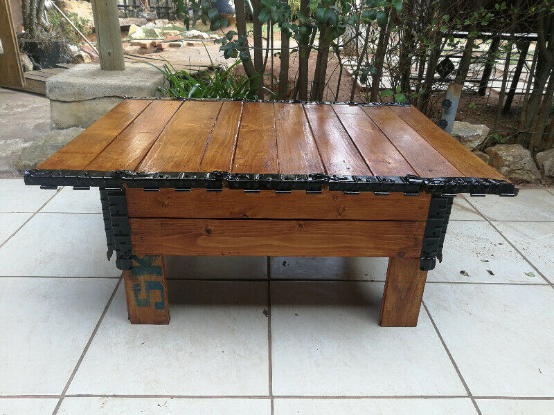 Lovely once off creation - rustic coffee table.