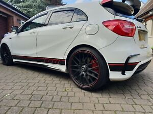 Mercedes-A45-edition1-AMG-W176-2-COLOUR-Side-Stripes-Decals-Stickers-panel-fit