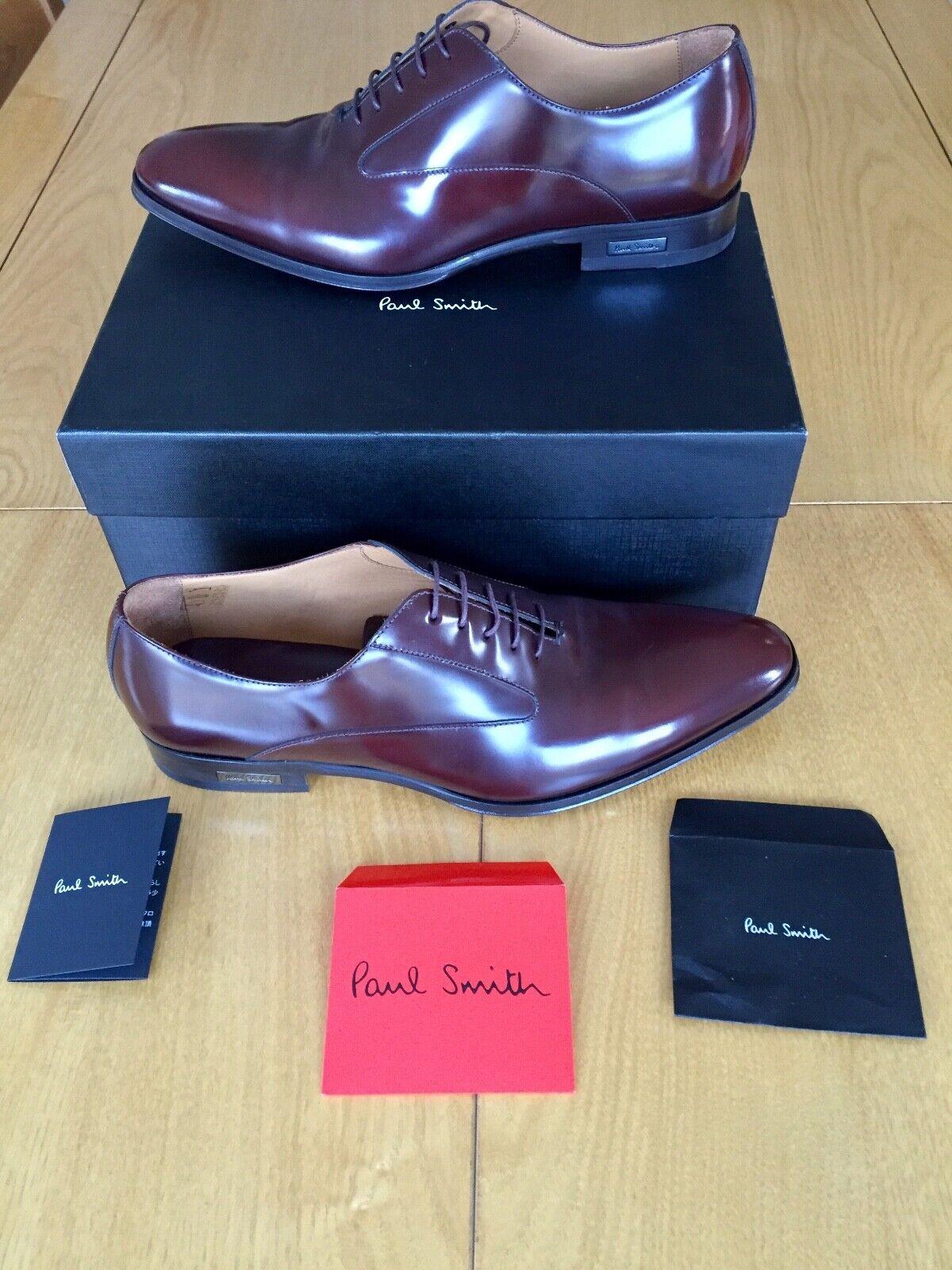 Paul Smith Mens Burgundy Leather Brogue UK UK UK Größe 10.5 Brand New & Boxed c358a0