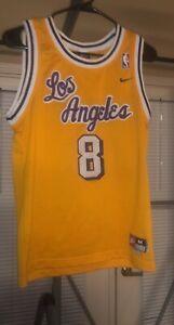 Kobe Bryant LA Lakers #8 Jersey Purple/Gold Size Youth M Stitched ...