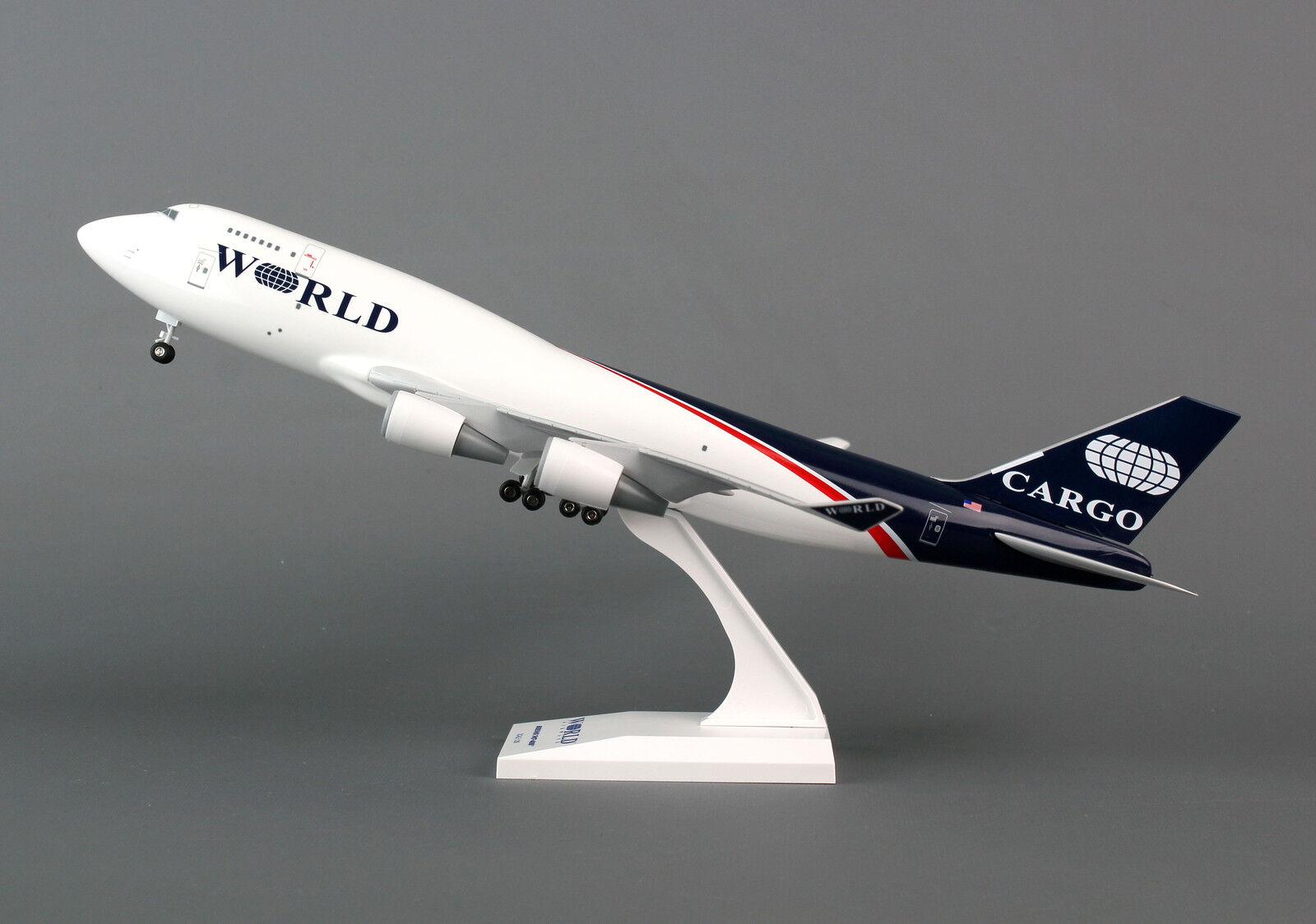 SkyMarks World World World Airways Boeing 747-400BCF SKR732 1 200  W GEAR, New 922288