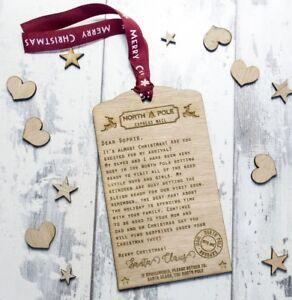 Personalised-Santa-Letter-Christmas-Tree-Ornament-Wooden-Custom-Gift-Childrens