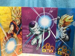 New Dragon Ball Energy Drink Promo Clear Holder File Gokou Vegeta Freeza Set