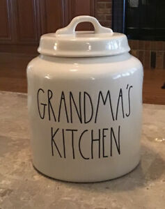 New-Rae-Dunn-by-Magenta-GRANDMA-039-S-KITCHEN-Medium-Canister-Cookie-Jar