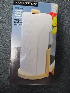 Image Is Loading Kamenstein Perfect Tear Paper Towel Holder Upright Wooden