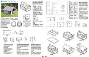 30 x 36 small dog house plans gable roof style with porch design 90204g 610708151388 ebay. Black Bedroom Furniture Sets. Home Design Ideas