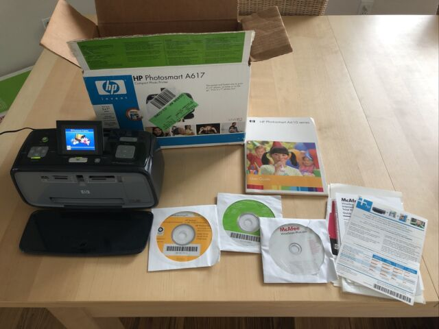 HP Photosmart A617 Compact Digital Photo Printer - Includes All Shown In Picture