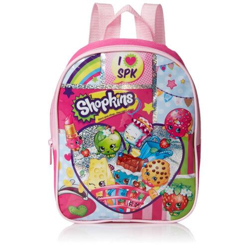 """Shopkins I Love SPK 10/"""" Backpack Preschool Girls Kids Toddler School Bag 3 NEW"""
