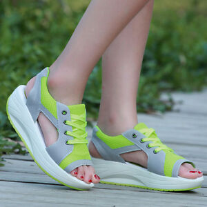 Toe Athletic Open Sandals Trainers Sport Walking Women Footwear DH2E9I