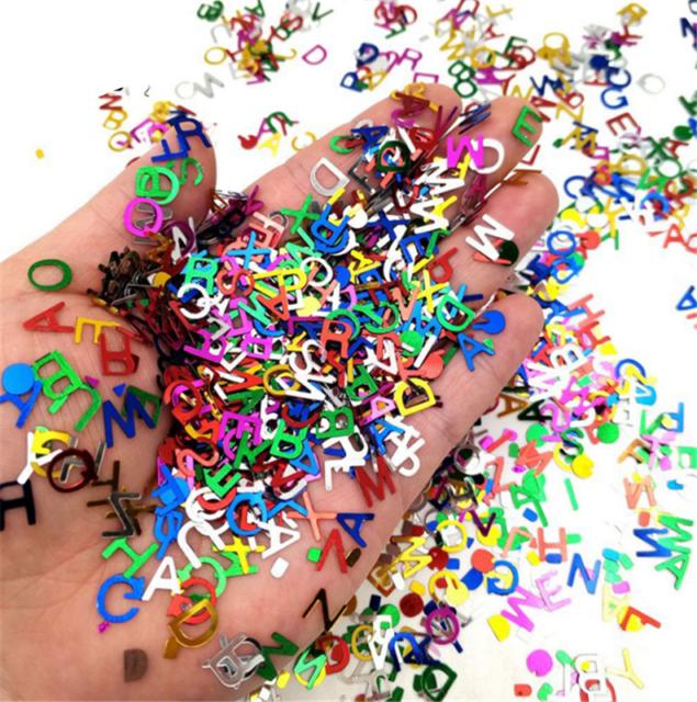 3500pcs Alphabet Confetti Table Decoration Confetti Letter Birthday Party Decor