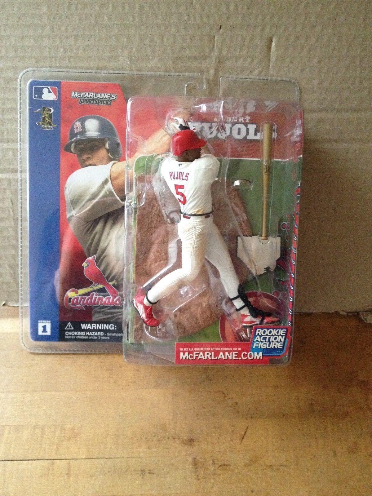 Mcfarlane MLB Series 1 Albert Pujols Rookie Rookie Rookie Variant Figure Unopened Rare e362f3