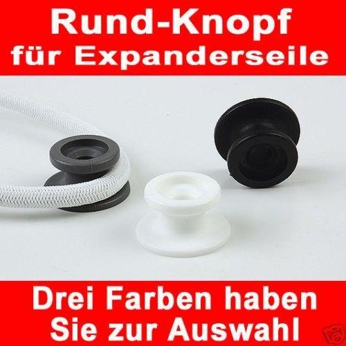50x Rundknopf  3 Farben zur Auswahl  6-8mm Expanderseil