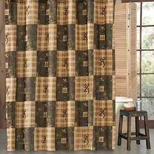 Image Is Loading Browning Country Shower Curtain Cabin Rustic Hunting Bathroom