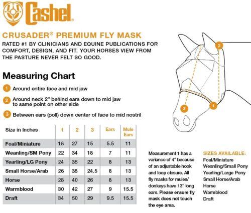 Arabe Silencieux Ride Standard oreilles Cashel fly mask Crusader Arabian pour Trail Cheval